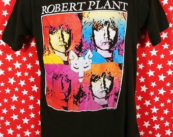 Vintage 1990 Robert Plant Manic Nirvana tour t shirt Small rock