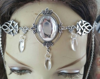 Crystal Circlet of the Ice Warrior celtic priestess druid cosplay bridal goddess elven