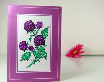 Vintage blank greeting card