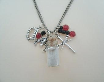Vampire Necklace gothic jewelry goth jewelry vampire jewelry halloween jewelry fantasy necklace steampunk gothic necklace halloween necklace