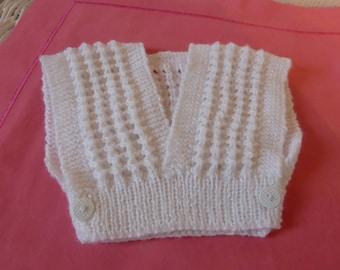 White wrap sweater - knitting