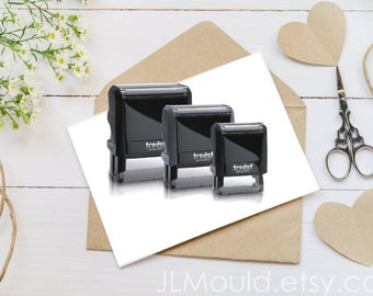 Custom Self Inking Rubber Stamp, We can use your logo, drawing, or idea, business stamp, personalized stamp, wedding stamp, etsy store stamp