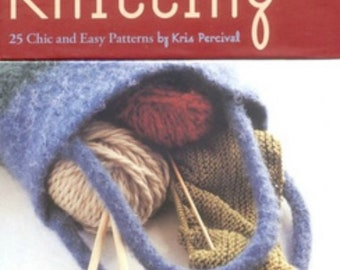 Knitting to Go - Knit Patterns - Knitting Book - Do it Yourself Knitting - Beginning Knit Patterns - Portable Knitting Patterns