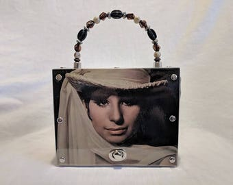 Barbara Streisand Recycled Album cover Handbag Purse