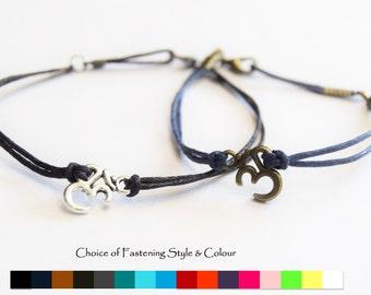 Om Bracelet - Ohm bracelet - Mens Om bracelet - Friendship bracelet - Mens cord bracelet - Bronze Ohm bracelet - Silver Ohm bracelet