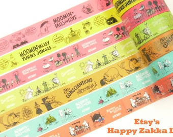 Moomin - Vol. 1 - Japanese Washi Masking Tape - 5.5 Yards - 7 designs for choice