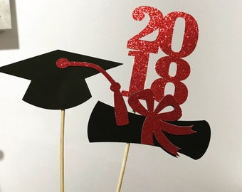 Graduation centerpiece sticks 2018, Graduation party decorations , class of 2018, graduation party decor, Graduation, Graduation 2018