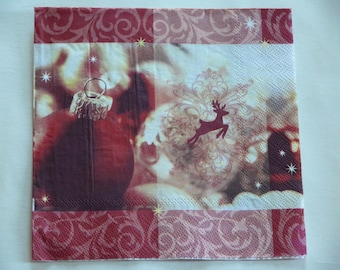 Christmas red ball paper towel