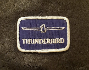 NOS Vintage Ford Thunderbird Blue and White Patch