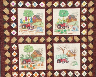 Seasons On The Farm, Barn Quilt Pattern.
