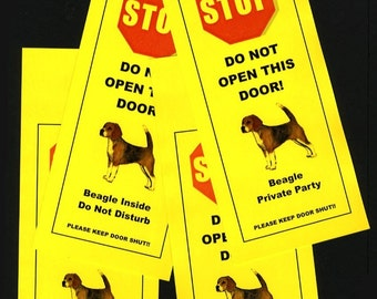 Keep Beagle Safe with Friendly alternative to Beware of Dog signs