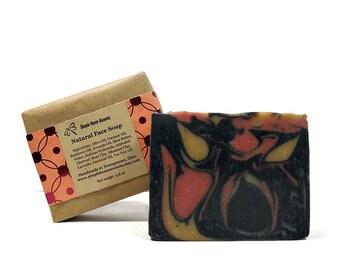 Natural Face Soap, Facial Soap, Charcoal Soap, Vegan Face Soap, Gift under 10