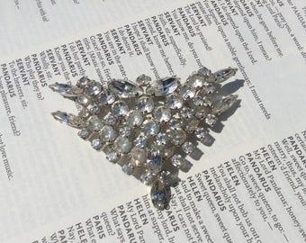 Sparkly Silver Brooch