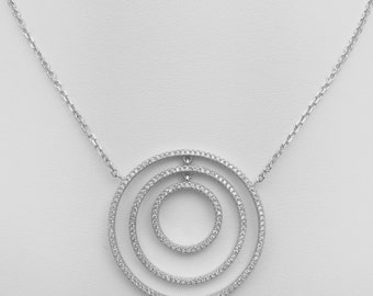 Diamonds Lookalike Circles of Love Pendant