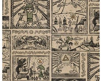 Legend of Zelda By the Yard Zelda Fabric zelda print fabric by the yard cotton by the yard gaming fabric link fabric nintendo gaming fabric