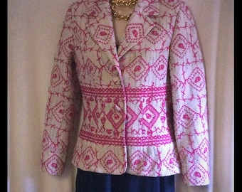 REDUCED ****Oilily embroidered 3 button blazer jacket S/M