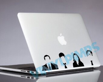 On SALE! The Office TV Show Laptop Decal - Michael, Jim, Pam, & Dwight - MacBook, HP, Lenovo, etc. Laptop, Car, Skin Sticker