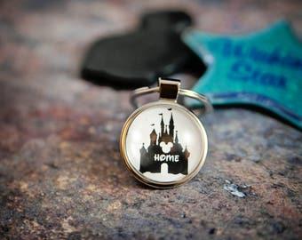 Disney Keychain, Cinderella's Castle, Disney World, Disney World Gift, Disney World Keyring, Disney Gift, Disney Obsessed, Disney Castle