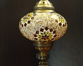 Turkish handmade colourful glass decorative  mosaic sconce, wall lamp, in front door lamp.