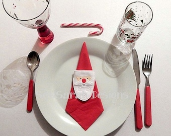 ITH Santa Napkin Ring (5x7) Instant digital download