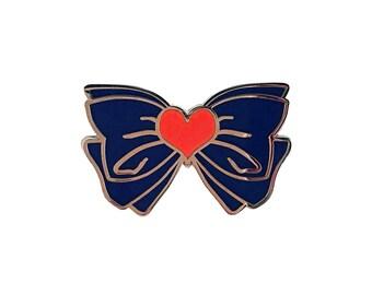 Sailor Venus Dark Blue Bow Lapel Pin