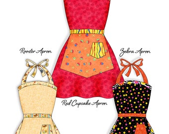 Retro Apron Pattern Full with Two Skirts- INSTANT DOWNLOAD