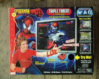 Spiderman Triple Threat Action Game/Interactive M.A.G. Motion Activated Gear