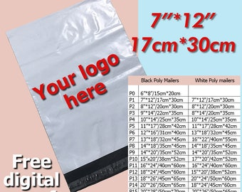 200 Poly Mailer 7x12, poly mailers bag, mailing, mailers, Envelopes, custom shipping bags