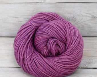 Supernova - Hand Dyed Superwash Merino Wool Worsted Yarn - Colorway: Radiant Orchid