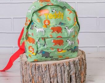 Personalised Zoo Safari Backpack, Mini Backpack, Zoo Safari Bag, Zoo Safari Gifts, Personalised Zoo Safari Gift, Zoo Safari Rucksack