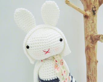 HUGGABLE Josefine The Bunny amigurumi crochet doll plush gift crochet toy kids babies