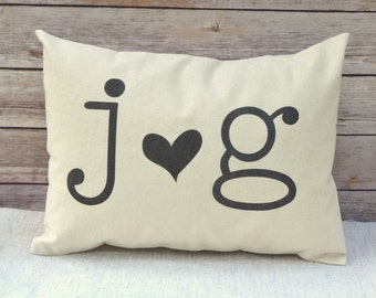 Valentines gift, Anniversary, wedding gift, 2nd anniversary, cotton heart pillow, personalized,  wedding date, monogram pillow, black heart
