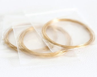 1522 Wire 0.4 mm Plated gold wire Soft Jewelry findings Golden wire Gold wire Craft wire Necklace supplies Golden jewelry findings 4 m.