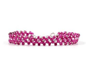 Child's Purple Bracelet - Dragonfruit Seed Bead Girls Bracelet - Children's Jewelry - Kids Beaded Bracelet - Layering Jewelry