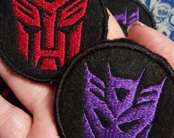 Transformers Autobot and Decepticon Patches