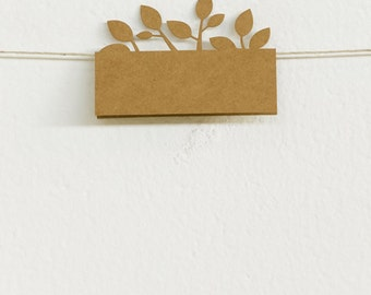 Place Cards 50pk, Tree of Love, Laser-cut Kraft