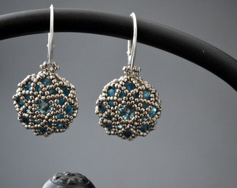 Silver Blue - Swarovski Crystal Earrings