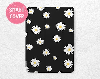 Daisy Flower Smart Cover for iPad Mini, iPad mini 2 retina, iPad Pro, iPad Air, iPad Air 2, Lovely Floral case for New iPad 9.7 2017 -P36