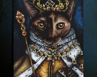 Queen Elizabeth I Tortoiseshell Cat 8x10 Fine Art Print