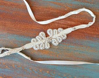 Wedding Sash Belt, Wedding Dress Belt, Pearl Belt,  Bridal Pearl Belt, Bridal Sash Belt, Wedding Accessory, Bridal Accessories