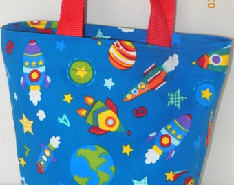 Space Ships, Rockets, Stars and Planets Tote/Gift Bag