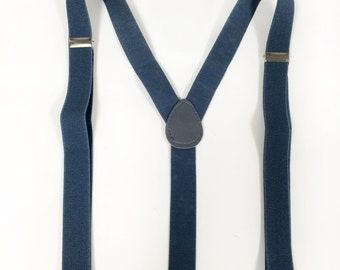 mens suspenders, gray suspenders and plaid/ivory vintage bowtie set, mens gray suspenders, ivory bow tie for children, teens, adults