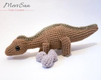 Crochet PATTERN - Amigurumi Maiasaurus Dinosaur - maiasaurus amigurumi dinosaur pattern, crochet dinosaur, amigurumi dinosaur toy, softie