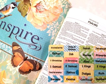 "STANDARD ""Inspire"" Multicolored Books of Bible Tabs by Victoria Anderson"