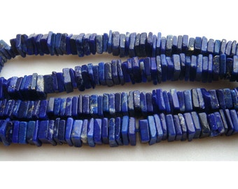 Lapis Lazuli Beads - Square Heishi Cut Beads - 6.5 - 7mm Beads - 8 Inches Half Strand