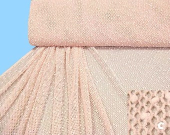Rosé knit network - m. studs and sequins