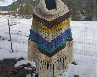 Handmade Crochet Cowl Poncho