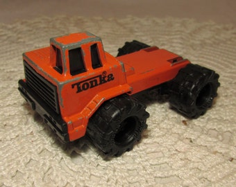 Vintage Tonka Diecast Orange Large Equipment Toy Truck, 1992, collectible