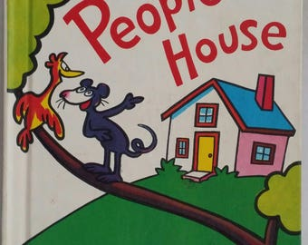 In a People House ~ by Theo. LeSieg Illustrated by Roy McKie ~ Hardcover 1972