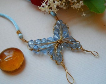 Blue Crystal Butterfly